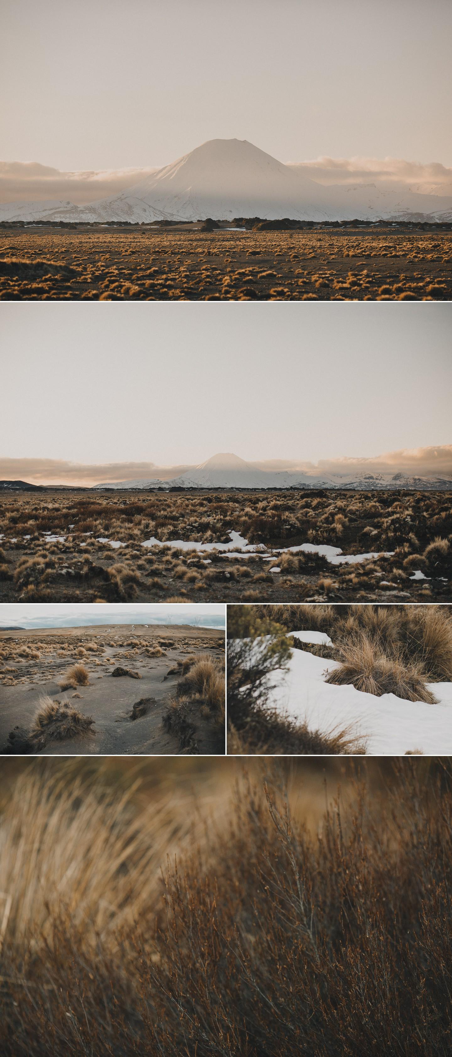 Desert road New Zealand in August