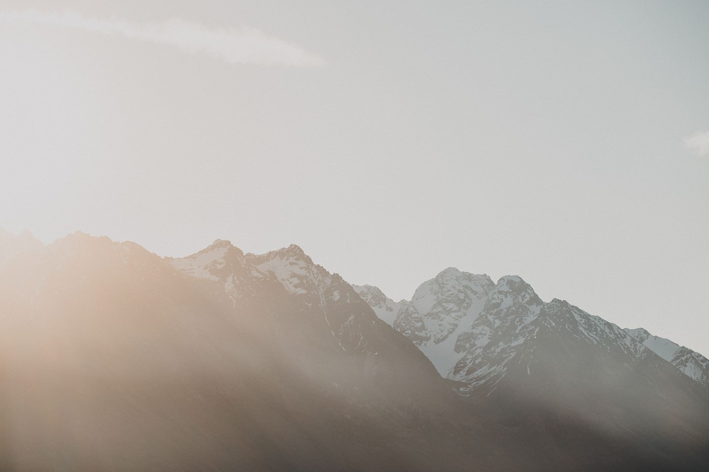 Sunset on Remarkables in Queenstown in winter