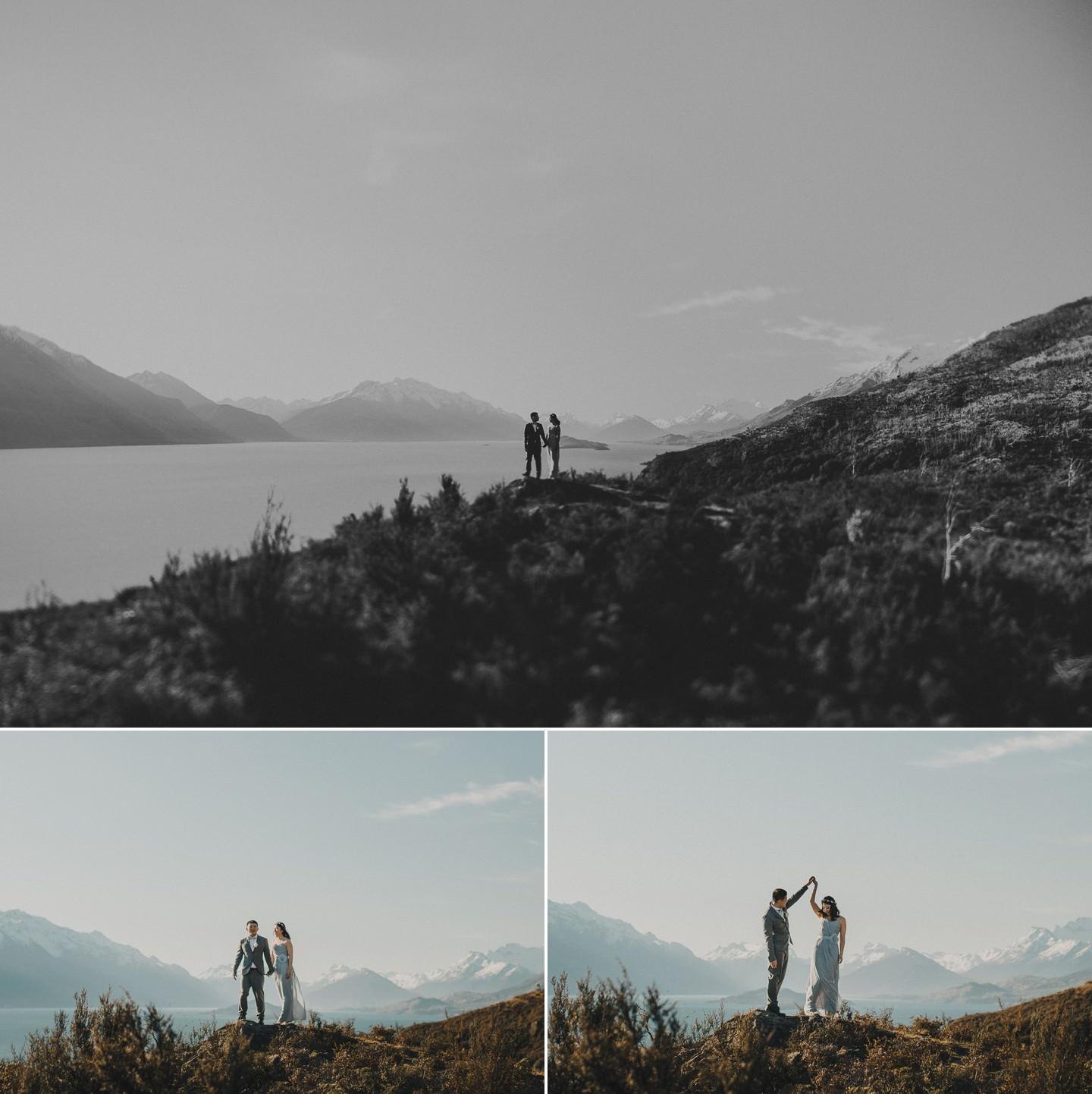 Wedding photography above Lake Wakatipu