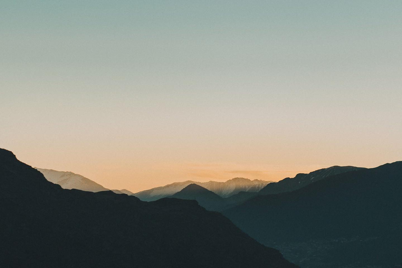 Sunset above Queenstown