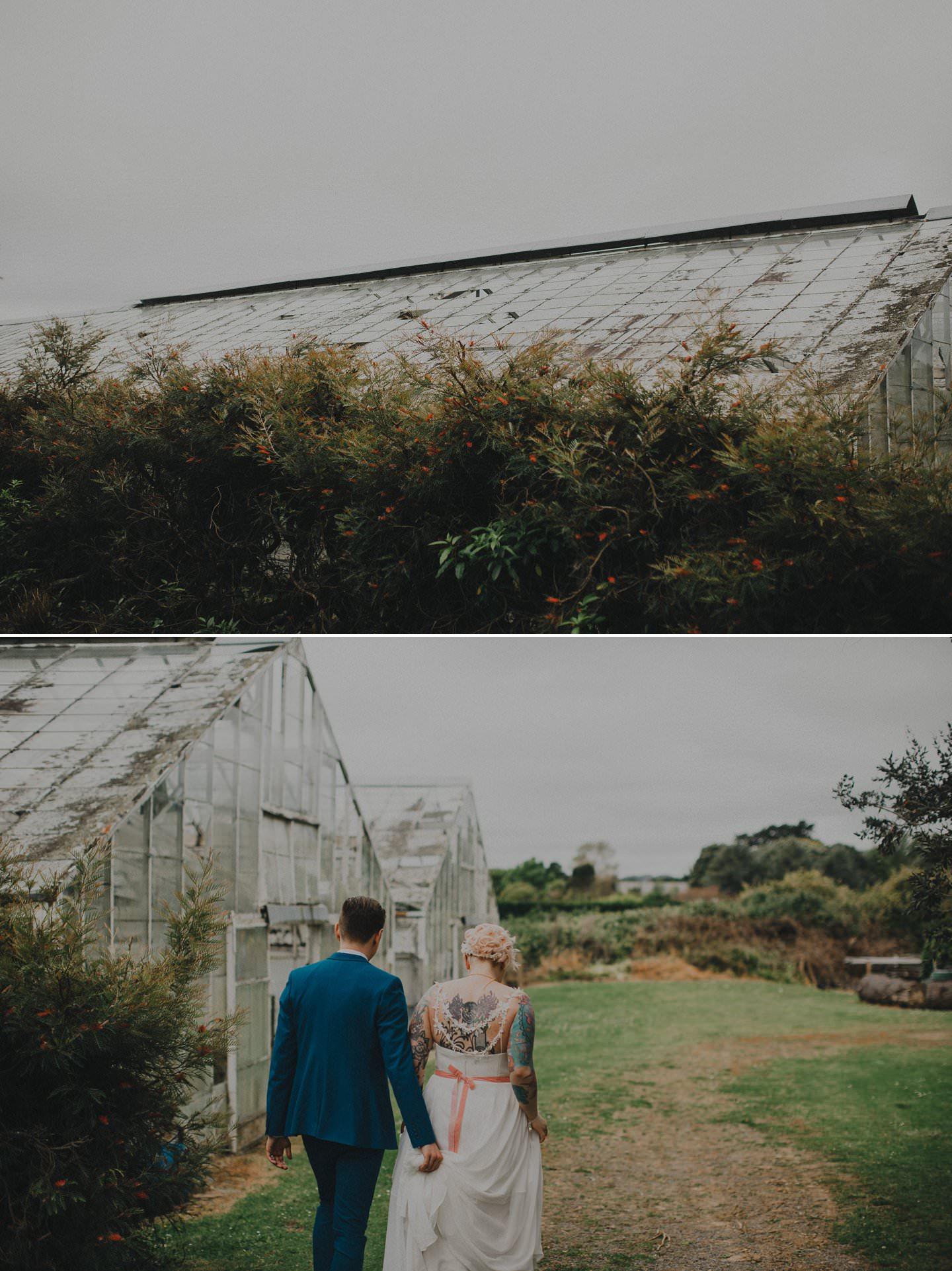 Glasshouse wedding photos