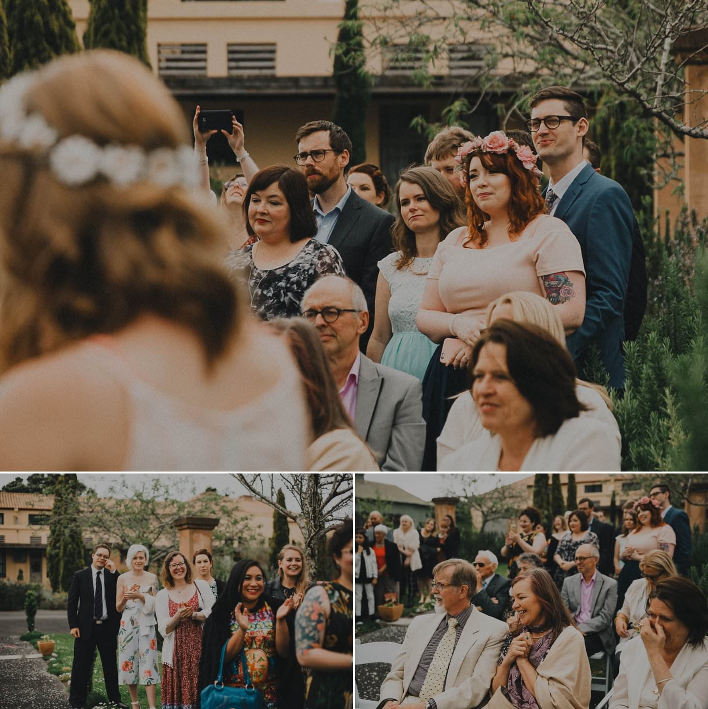 Emotional pictures at wedding ceremony