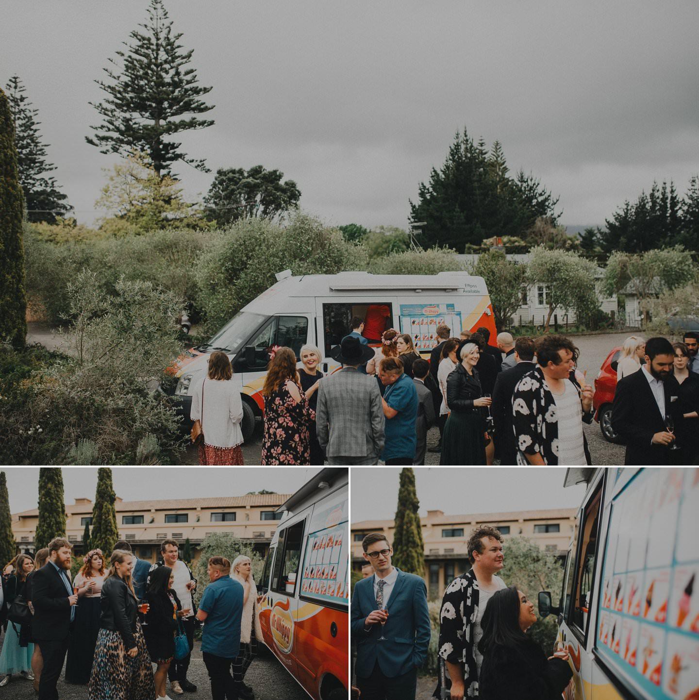 Mr Whippy ice cream truck at wedding