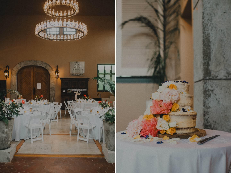Wedding details and wedding cake at a stylish wedding held at the Milk Station Otaki