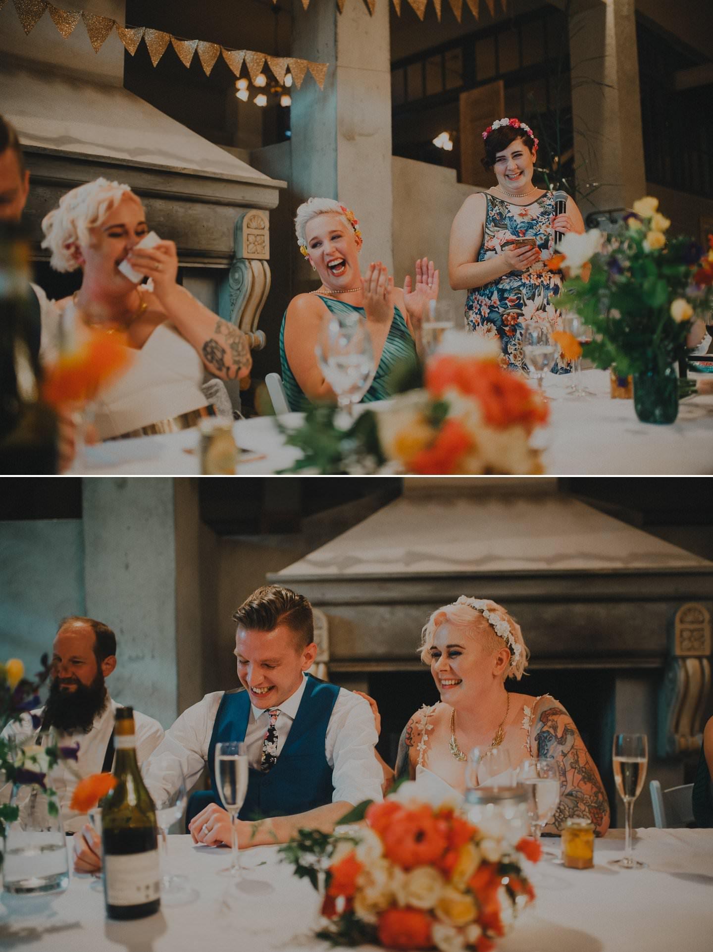 Speeches at wedding reception