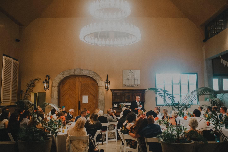 Speeches at wedding reception at the Milk Station Otaki