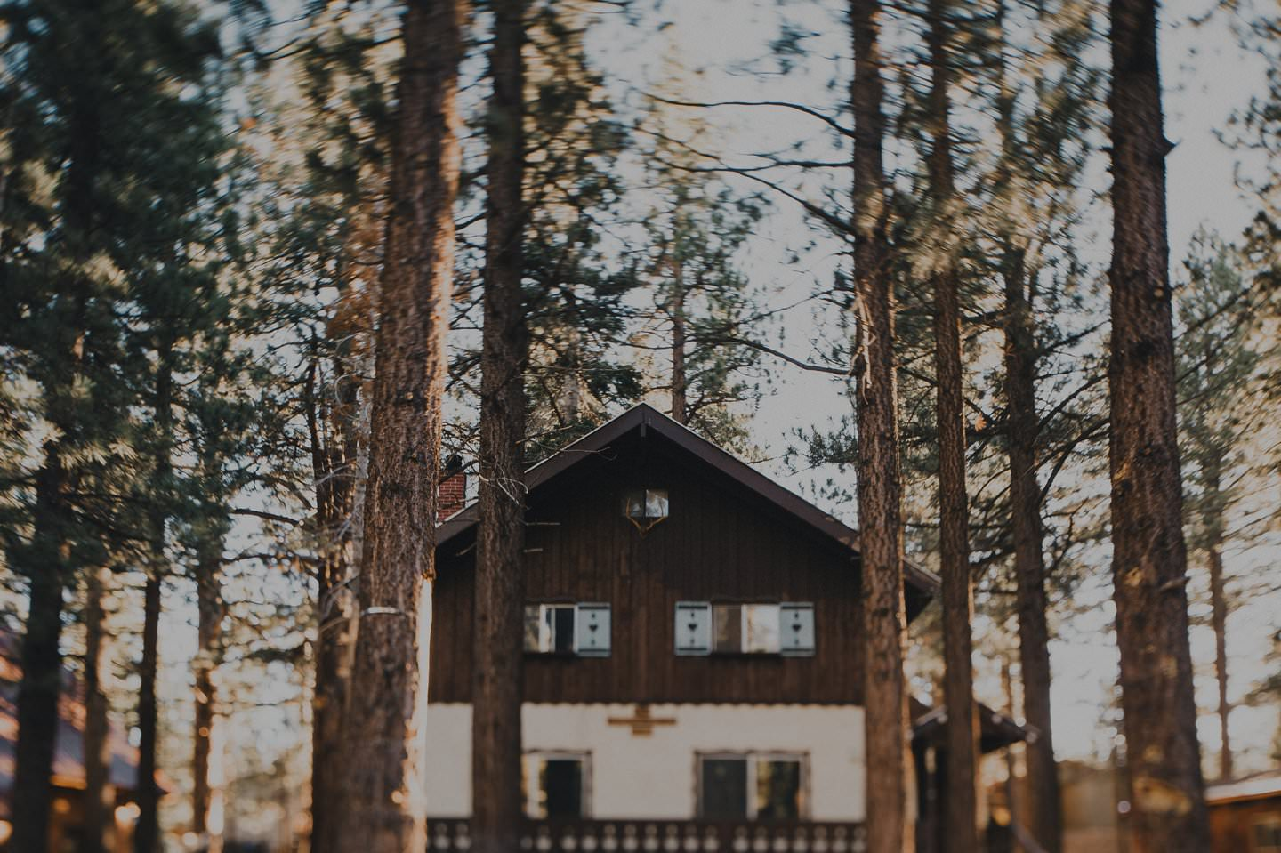 Cabin in the woods in Mammoth Lakes, California
