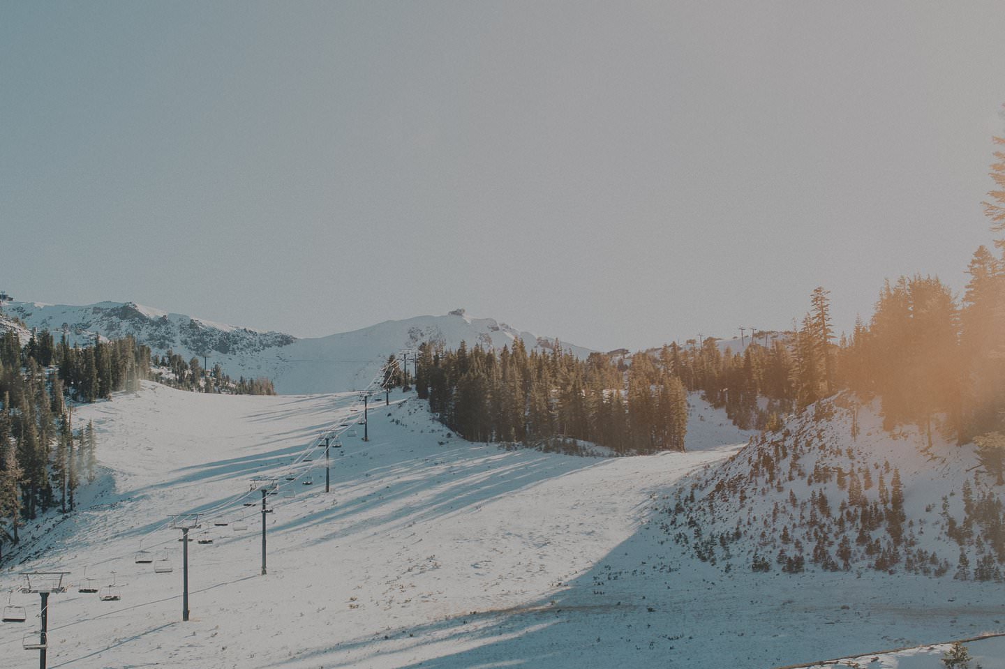 Mammoth Mountain in the winter, CA