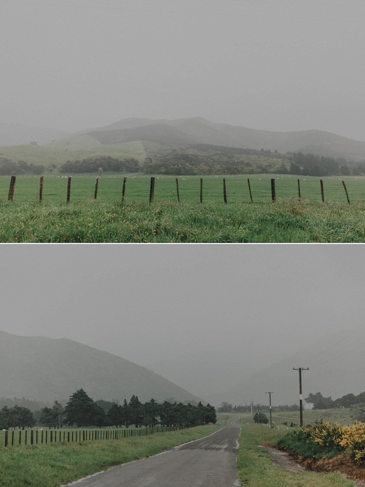 Wairarapa landscape in the rain