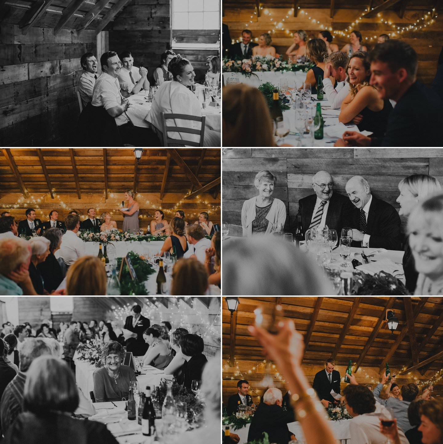 Candid Wedding photography.  Toast at a wedding reception