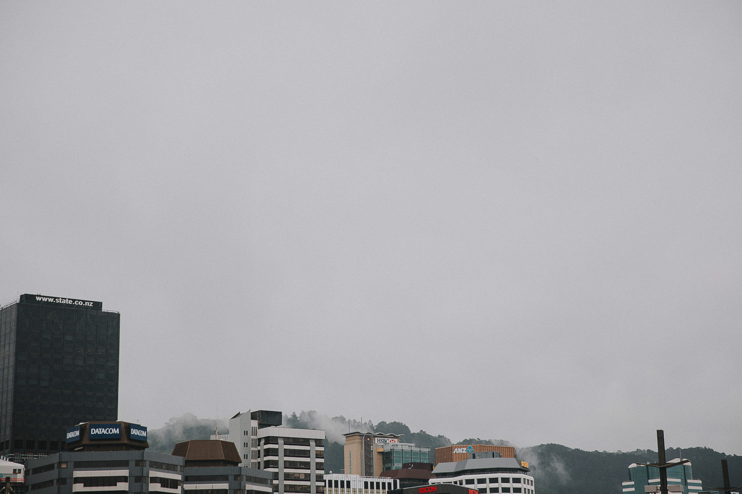 Wellington harbour skyline