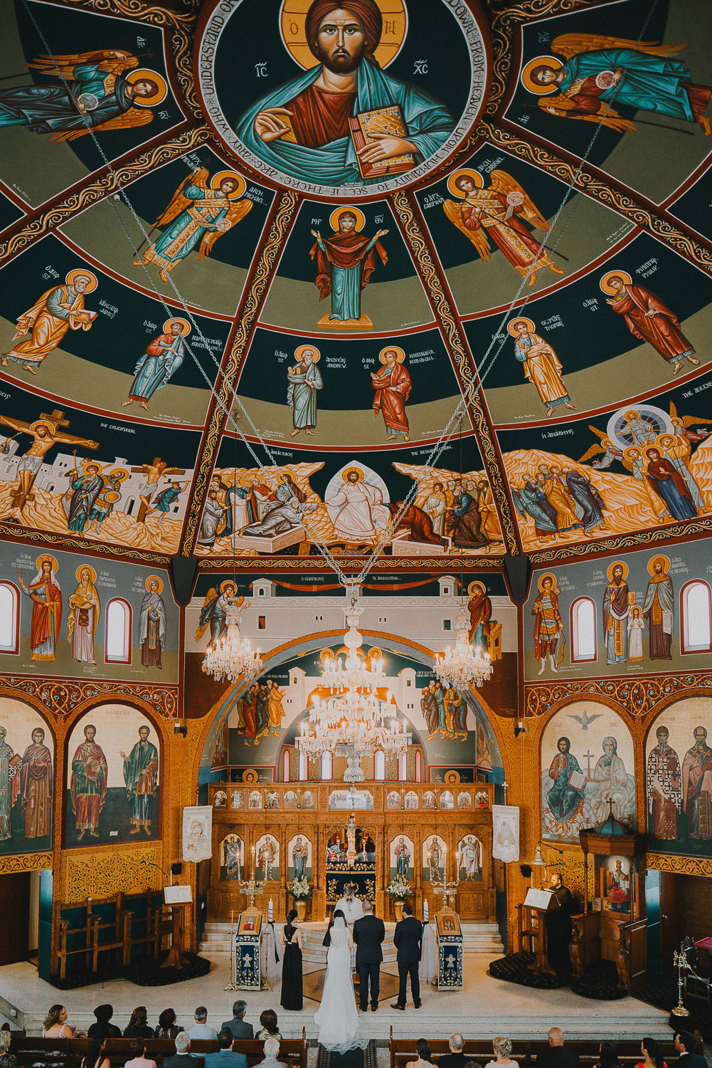 Interior photo of greek orthodox church in Brisbane