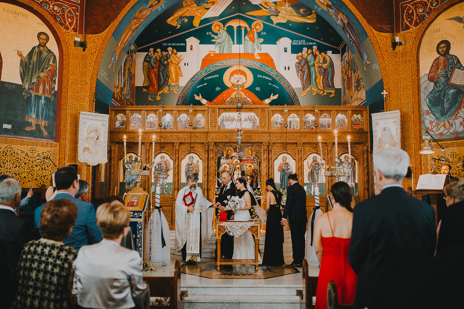 Orthodox greek wedding ceremony