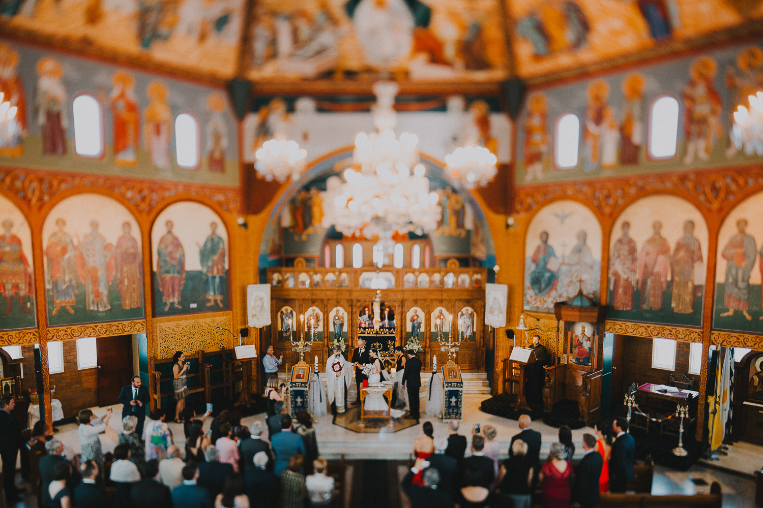 Orthodox greek church wedding ceremony