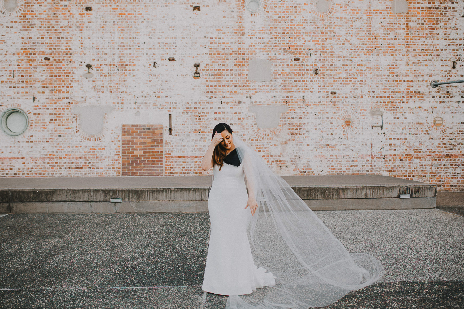 Wedding photos at the power station in Brisbane