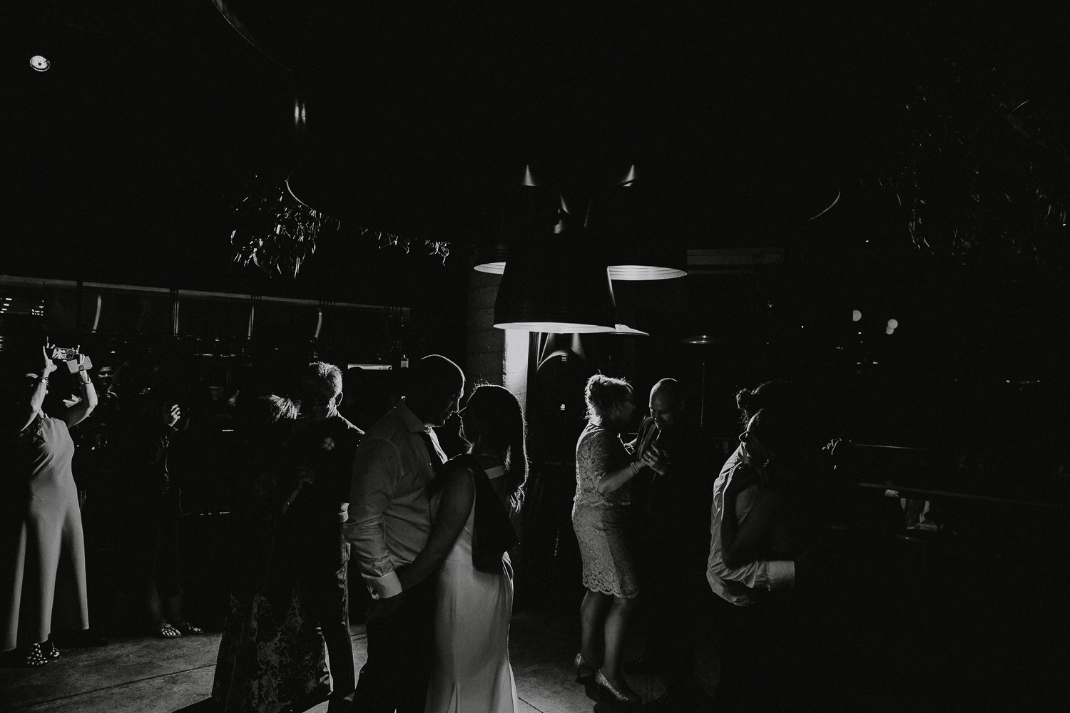 Creative wedding dancefloor photography