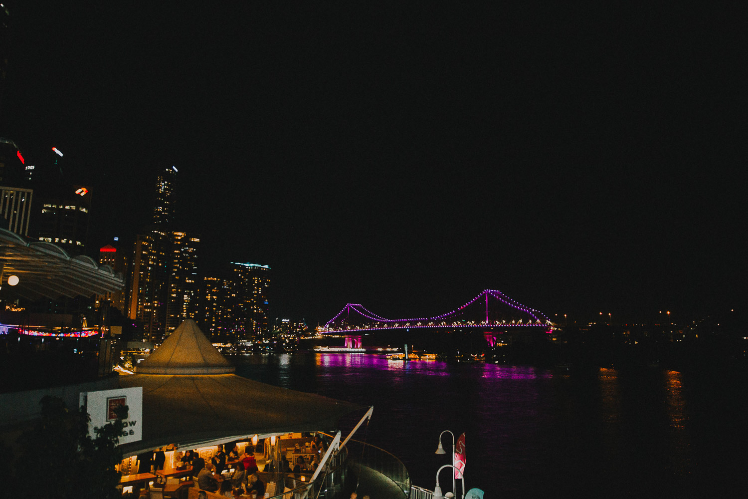 Brisbane waterfront lights