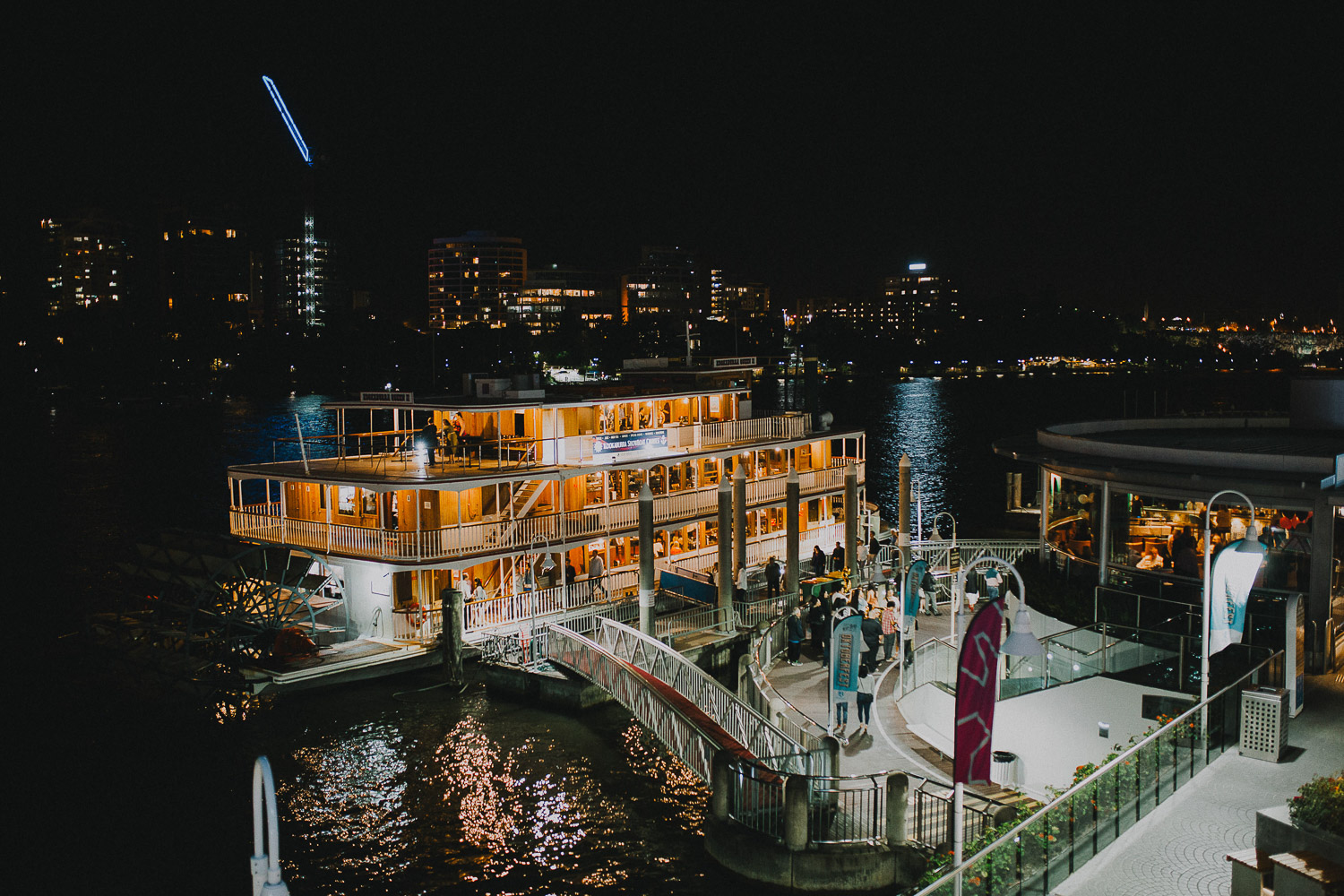 Brisbane waterfront at night