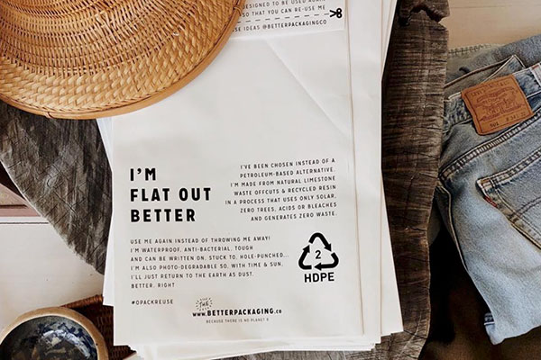 Better Packaging Co. - Sustainable, environmentally conscious packaging is a huge deal and and we love better packaging co. for their home-compostable bags. They look great, have all the same benefits of plastic but are better for the environment and better for our oceans.