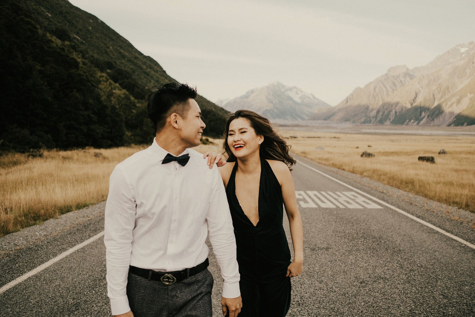 Pre-wedding photos at Mount Cook National Park, New Zealand