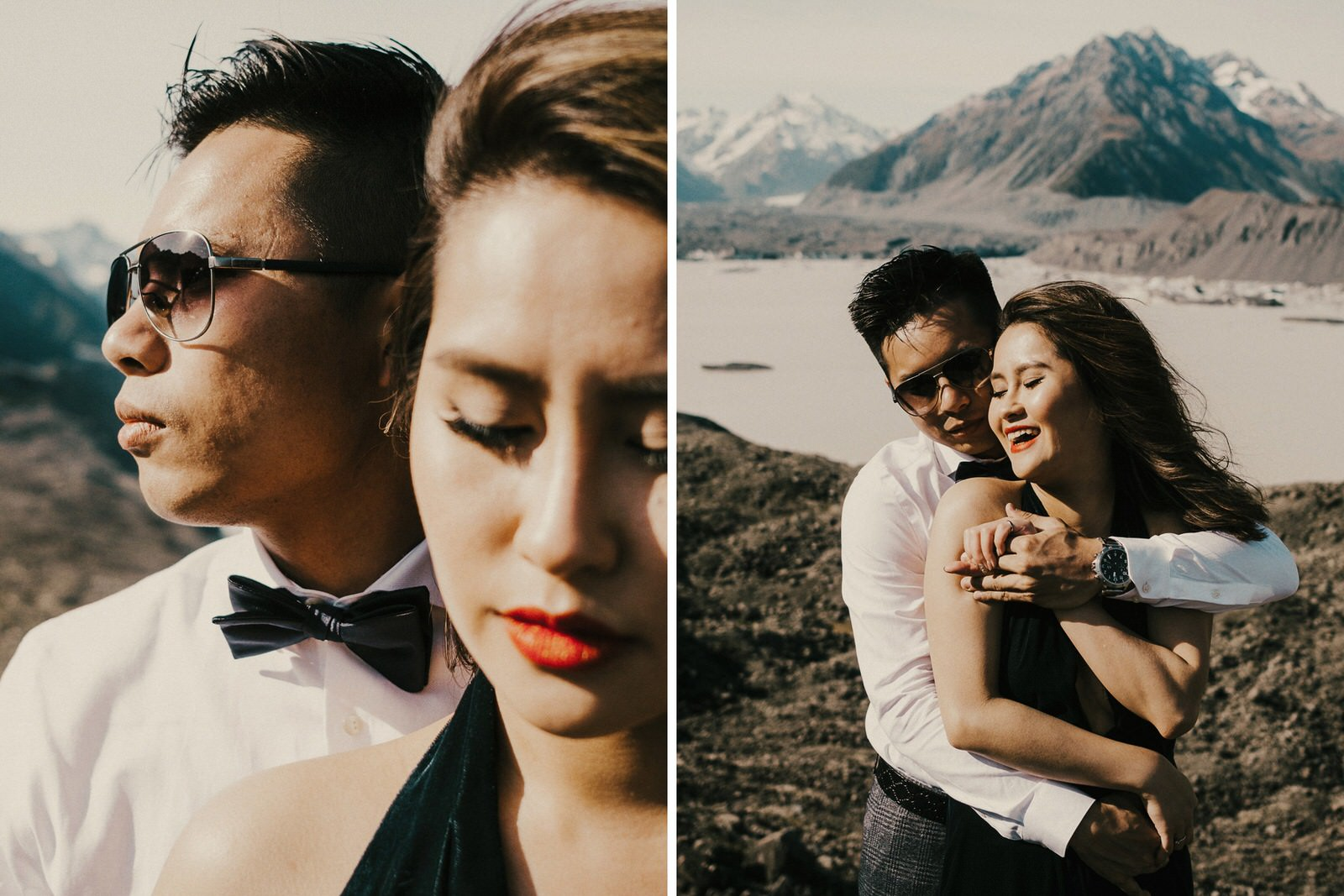 Pre-wedding photos at Hooker Valley, New Zealand