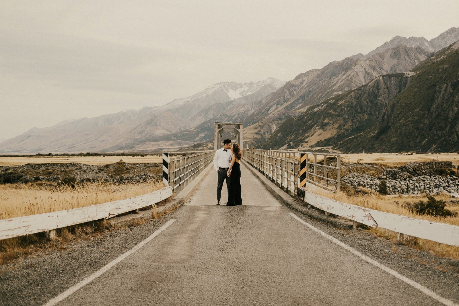 Pre-wedding photos at Aoraki Mt Cook National Park, New Zealand