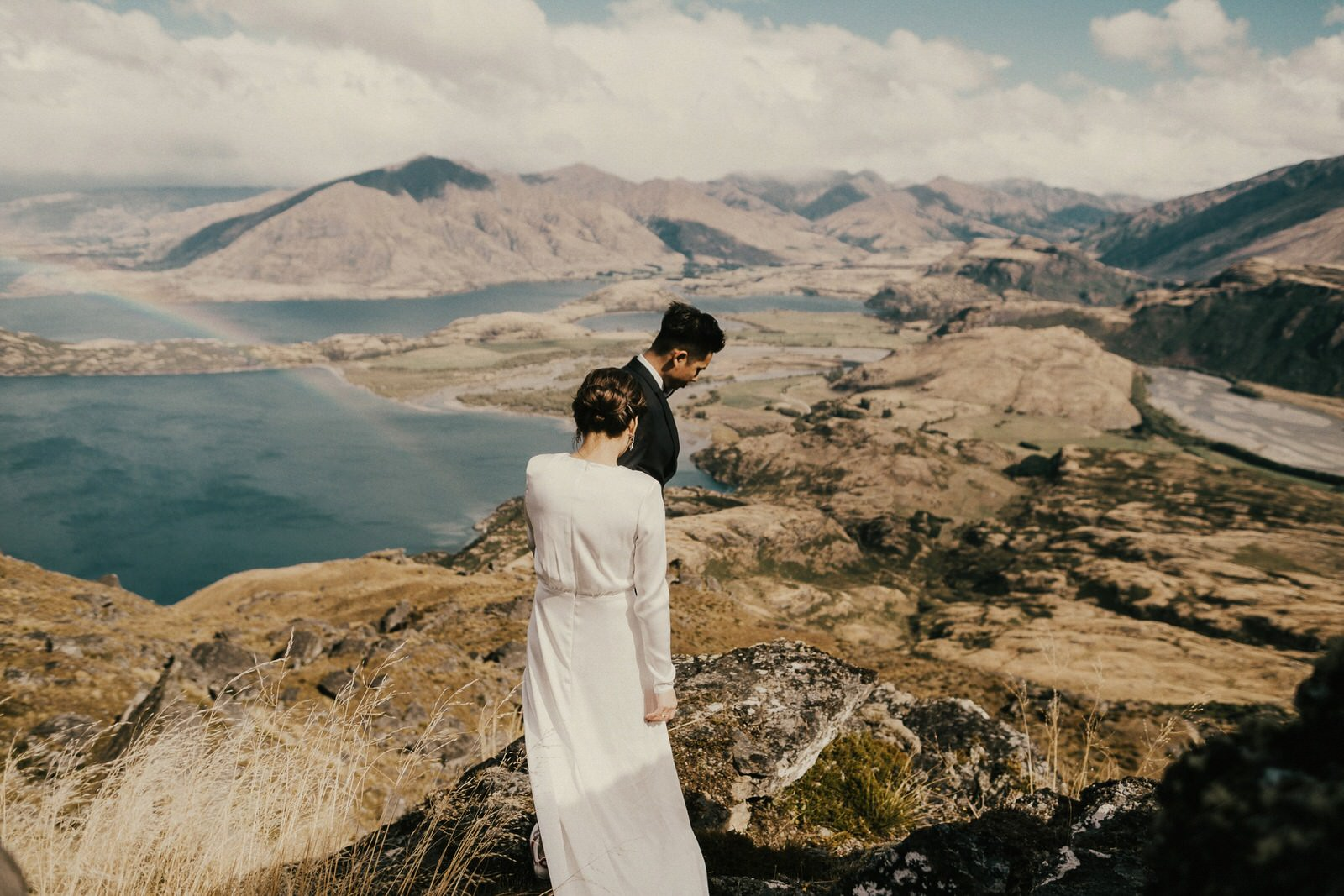 Pre-wedding photos at Lookout Hill, Lake Wanaka, New Zealand