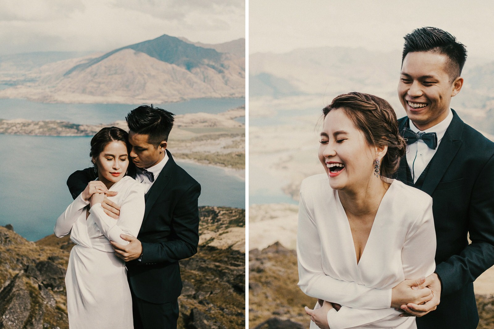 Pre-wedding photos at Lookout Hill, Lake Wanaka, New Zealand