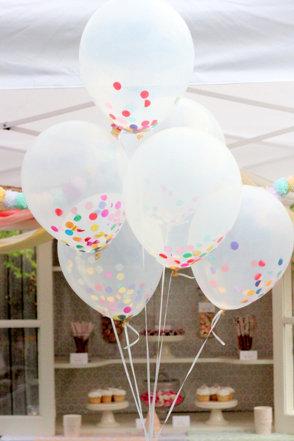 confetti filled balloons - how fun would it be to pop them on New Year's Eve Party.
