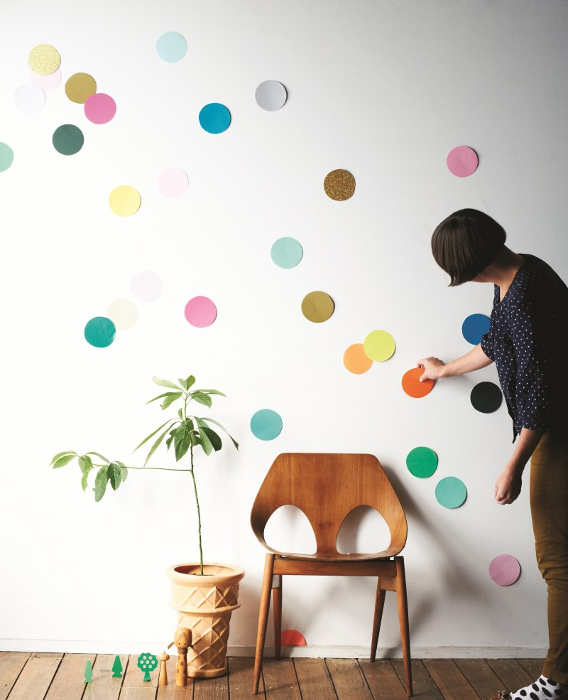 confetti wall - what a statement!