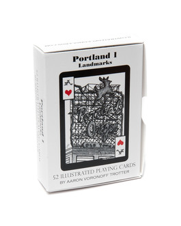 Portland Landmark Playing Card