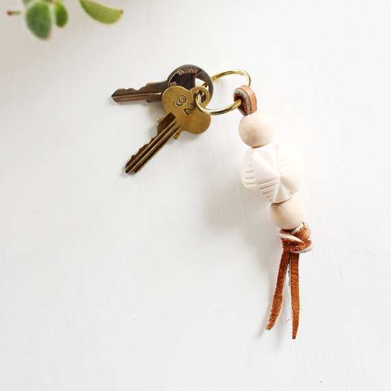 Beaded Vintage Key Chain