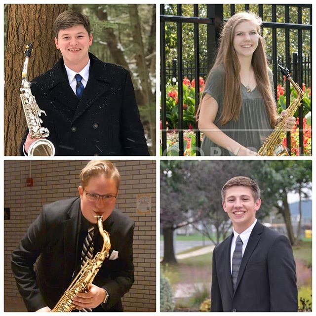 We're happy to welcome four new members to the saxophone studio! We can't wait to have all of you here next year! #weare #psu2022 🎵