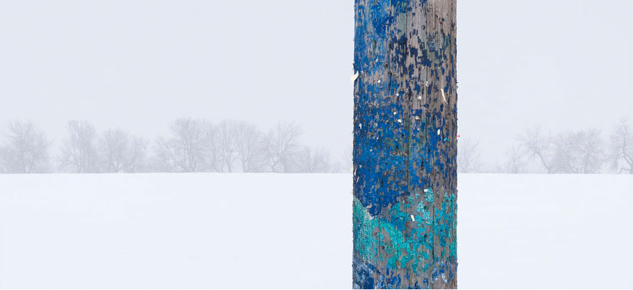 Telephone Pole and Weathered Paint