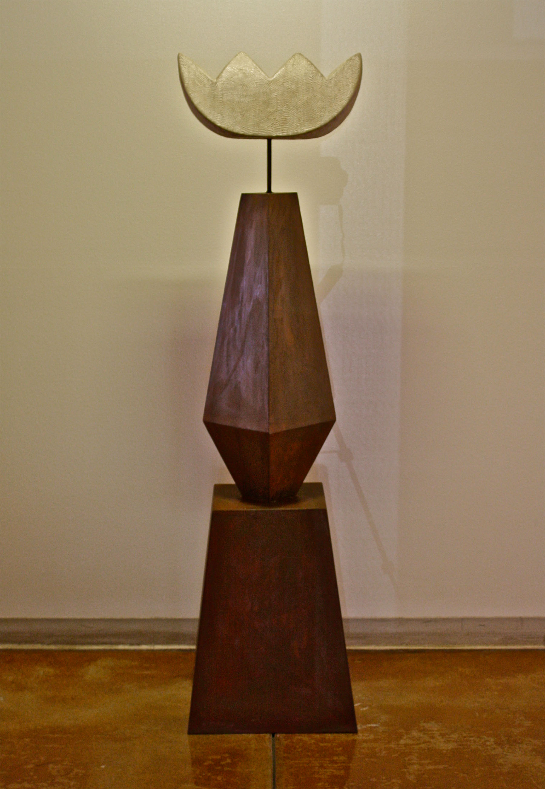 2011, 71 x 18 x 18 in. Steel and limestone