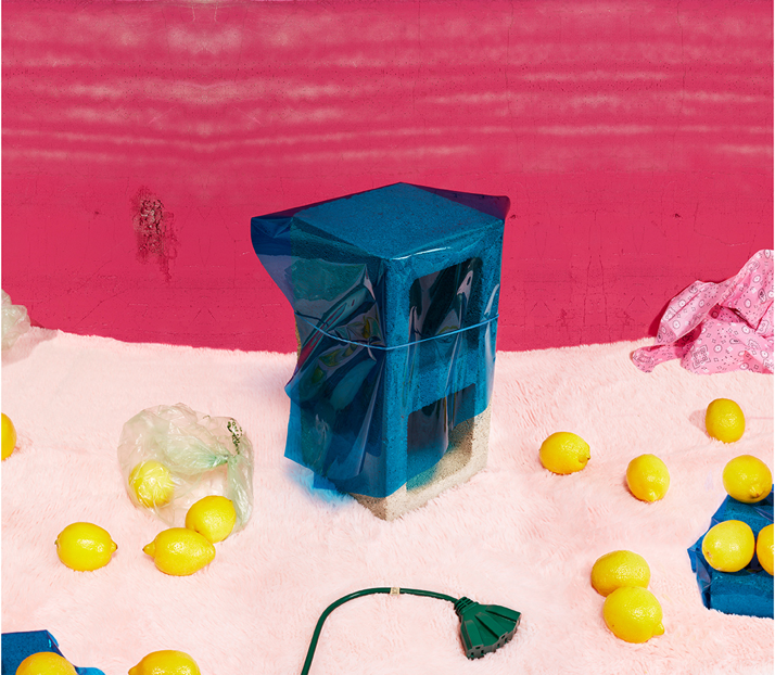 With Cinderblock, A Still Life After, 2015