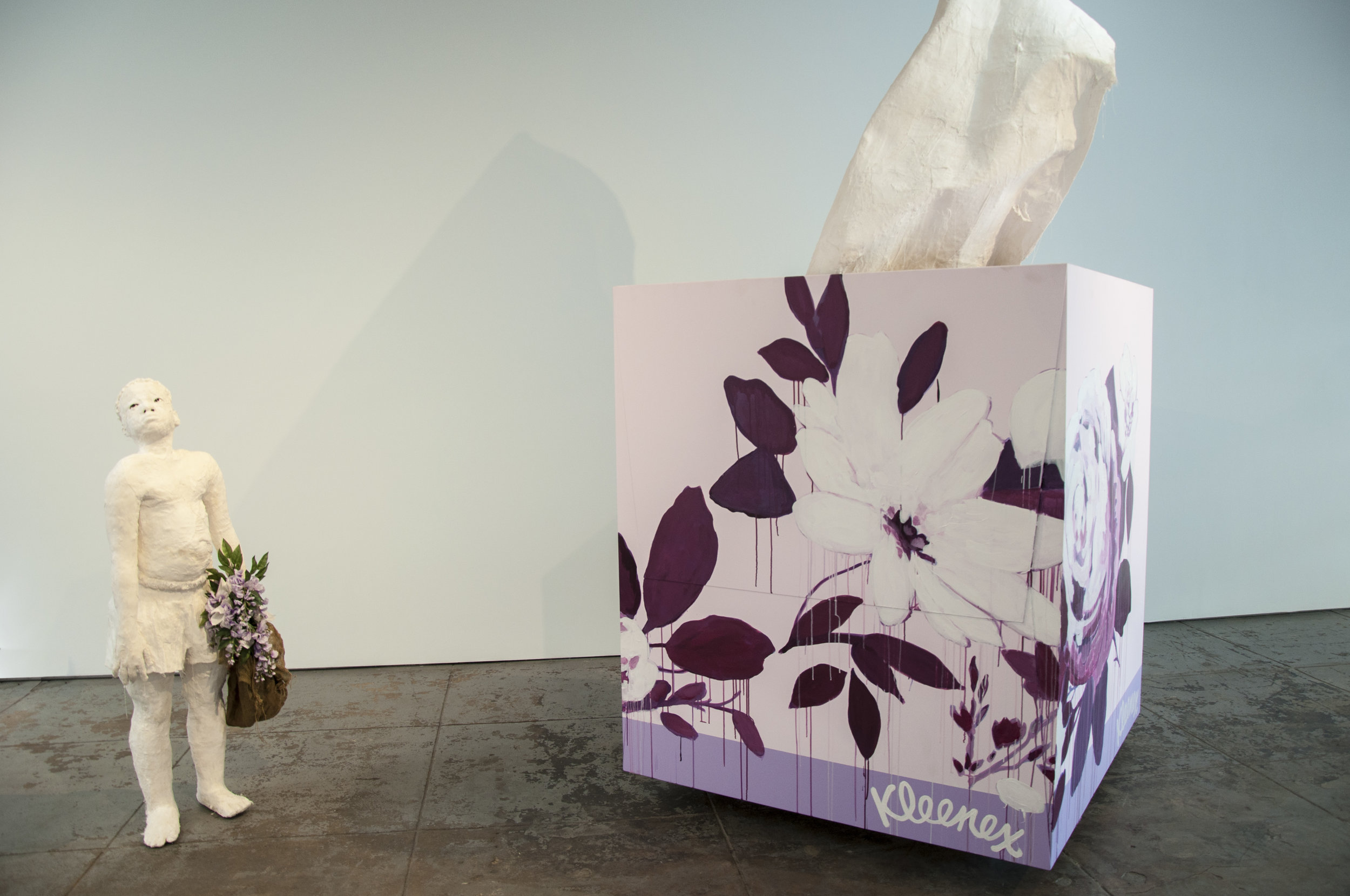 Installation View of Gabriel & Cry, Baby