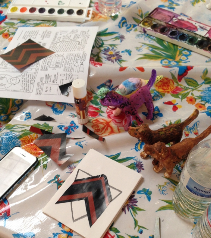 February & March 2015 : Students took their inspiration from Jason McLean's multi media show    SODA GARDNER   , and made their own papier maché painted animals and 'zines'