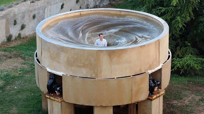 Film still of Vortex installation at Aix en Provence, France