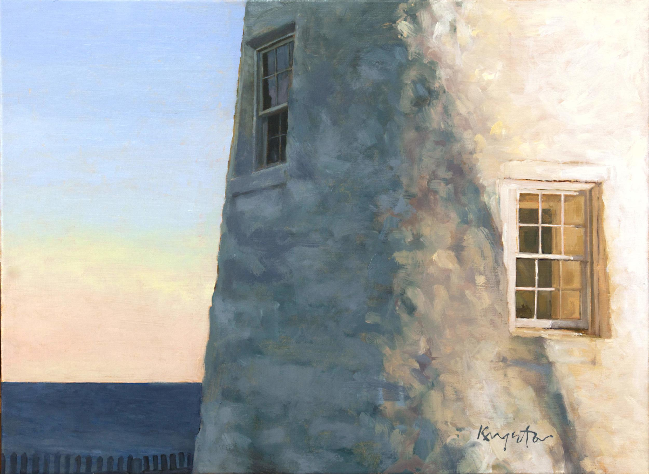 Lighthouse at the End of the World   24 x 18 oil on canvas 2015