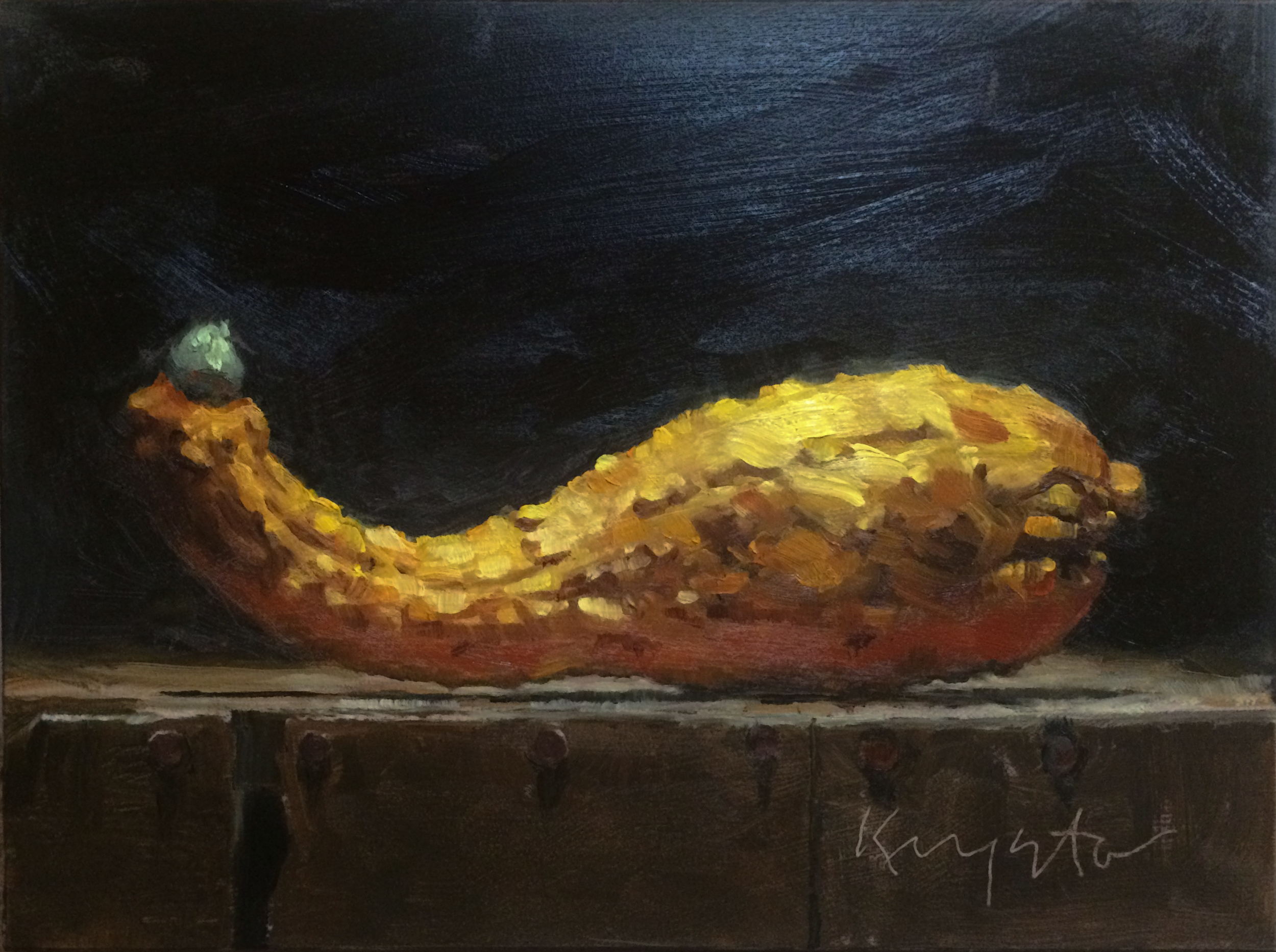 Out of My Gourd  8 x 6 oil on panel