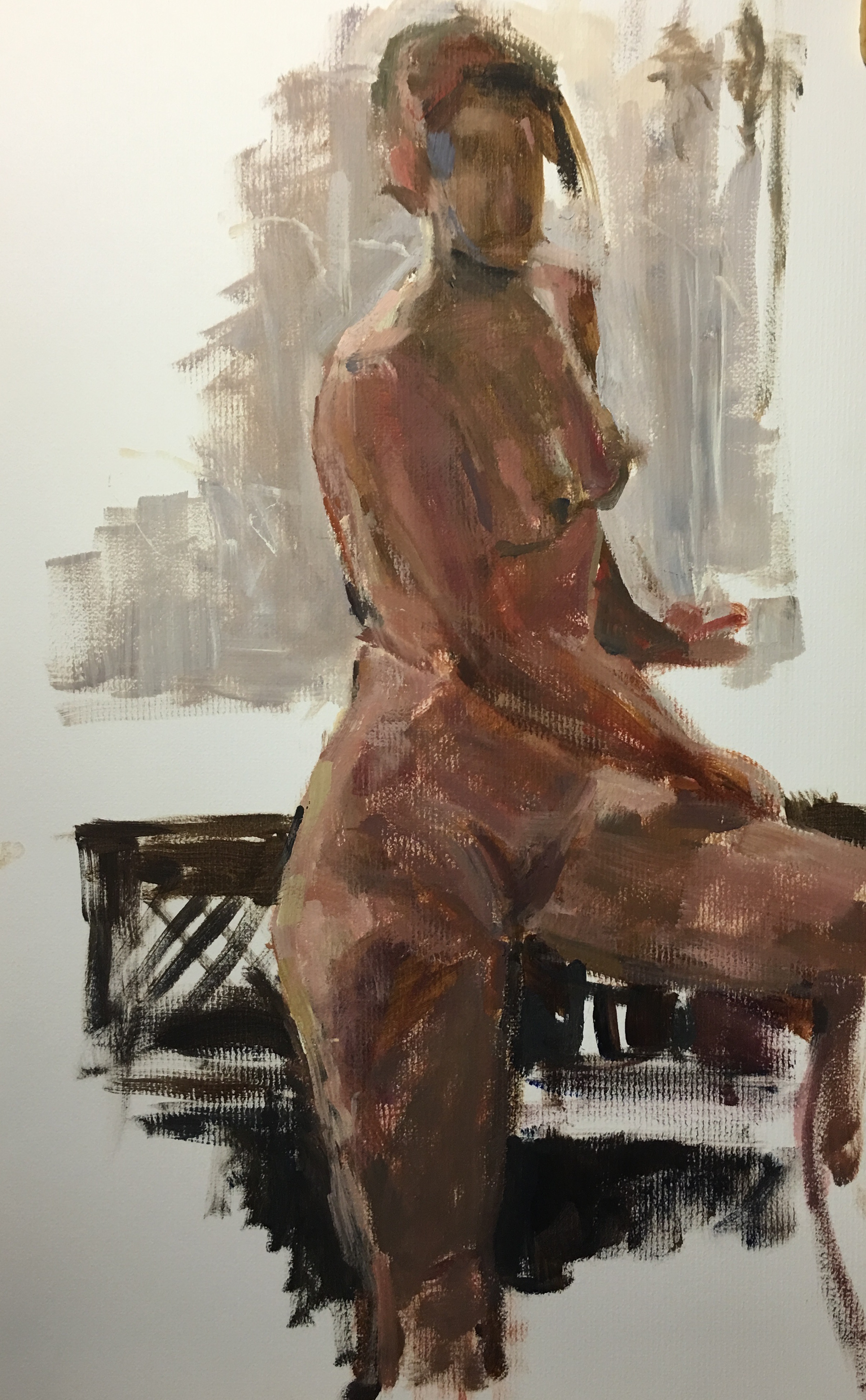 Study oil on paper