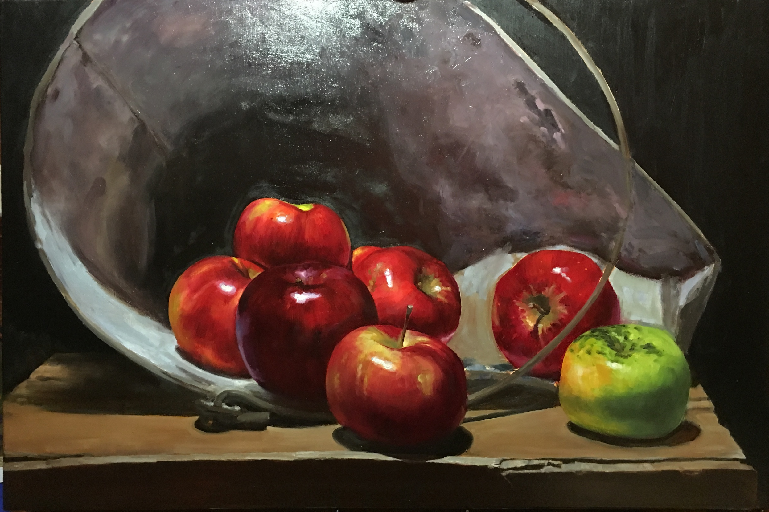 Just Enough for Pie 36 x 24 oil on line