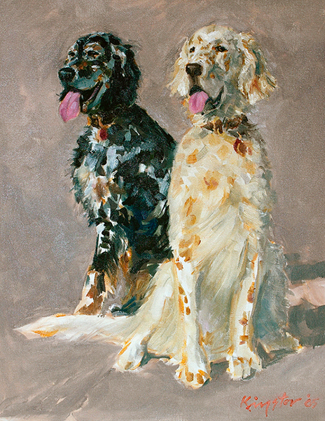 Bailey and Spenser 24 x 18 oil on canvas