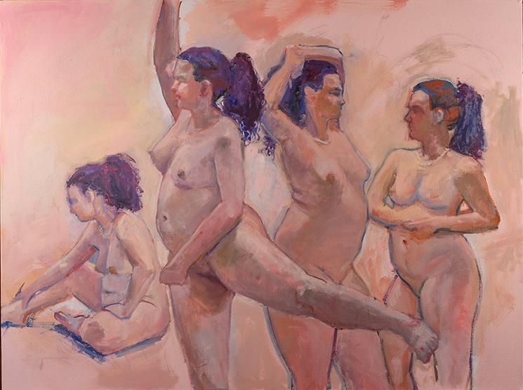 Dance 30 x 40 oil on canvas 2019