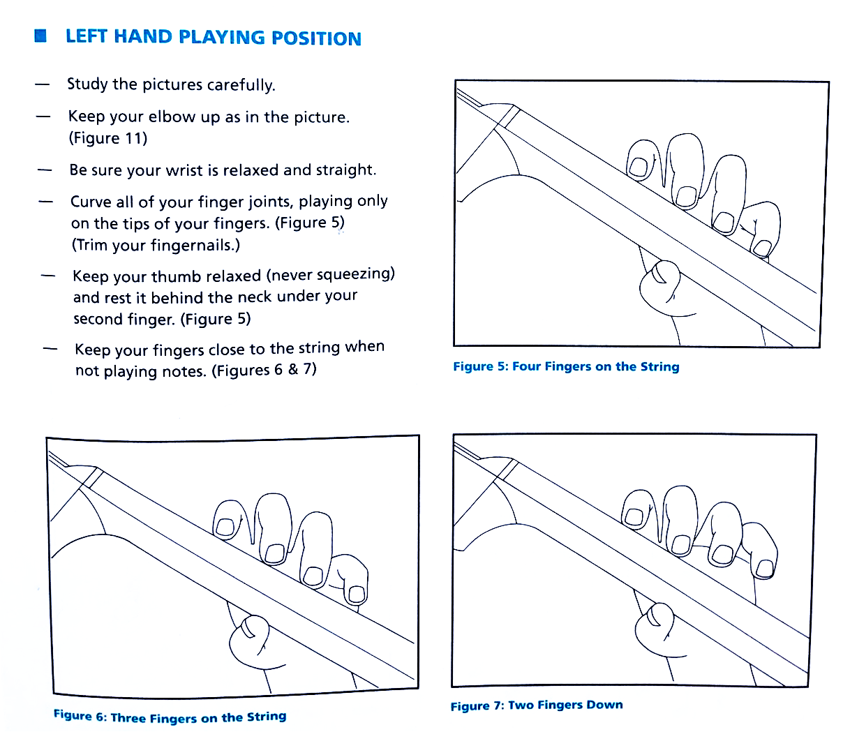 Left Hand Playing Position