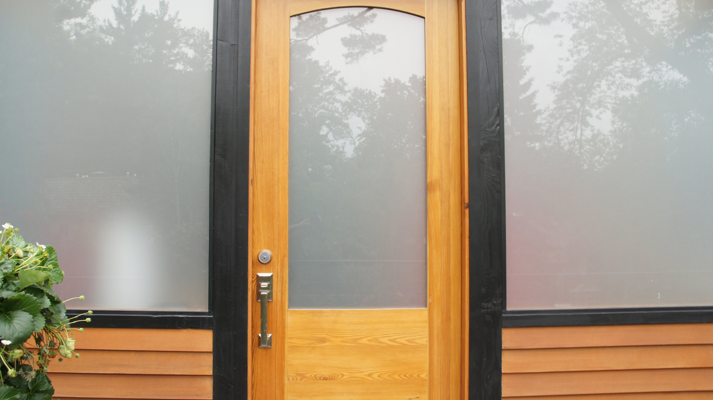 """#10 →</a><strong>2""""-thick reclaimed vertical-grain Old Growth Southern Yellow Pine. Integrated Kerf weatherstripping with low-E argon gas-filled sandblasted glass. Epifanes marine varnish. </strong>"""