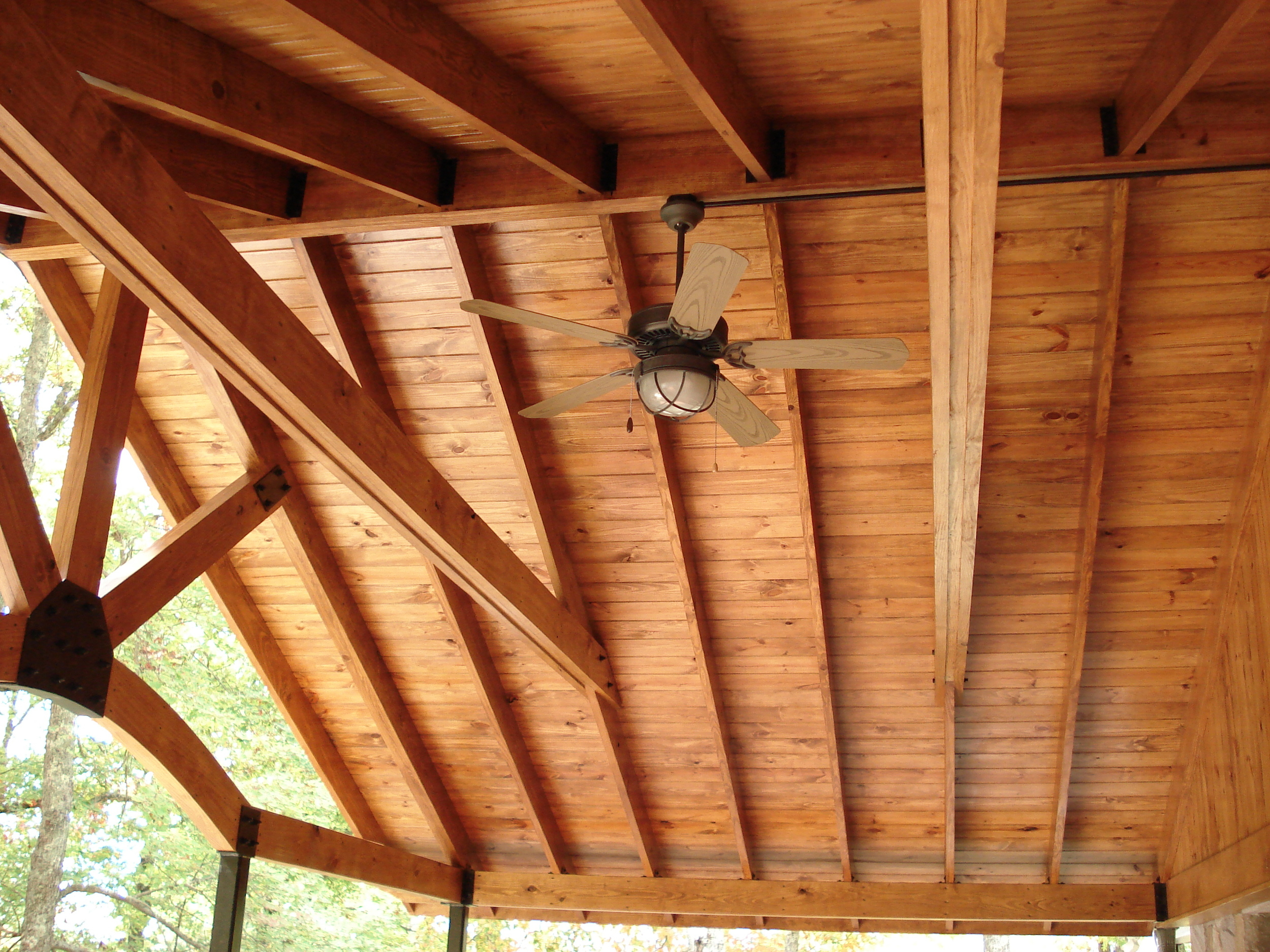 Sofa Rock Residence, Detail of ceiling over front porch.