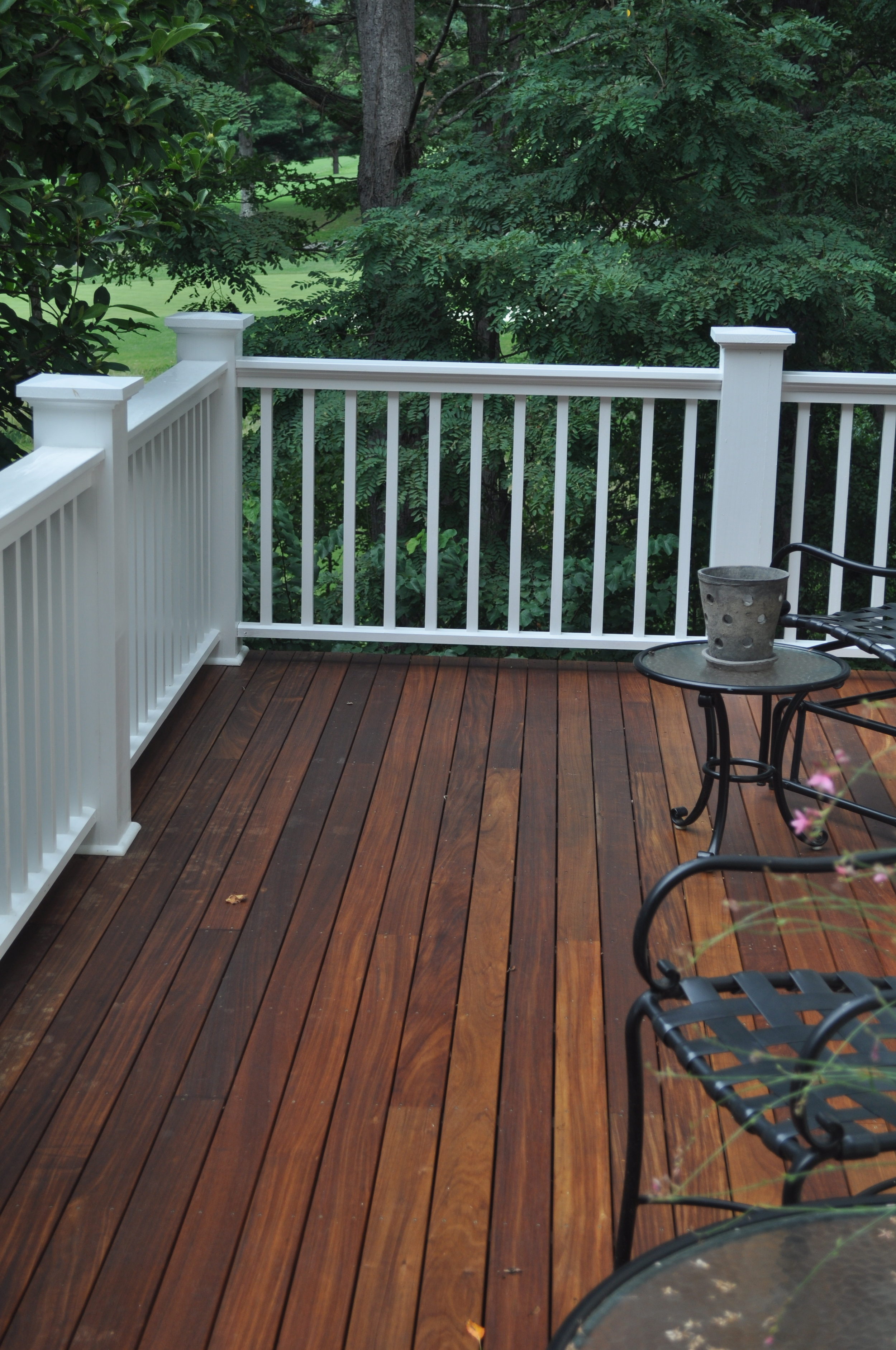Historic 1920's Bungalow,  1x4 Ipe deck with handrail to match the style of the house.