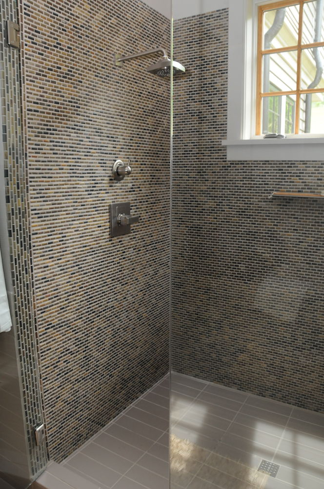 Master Bath Shower at the Southern Living Idea Home In Whisper Mountain, North Carolina.